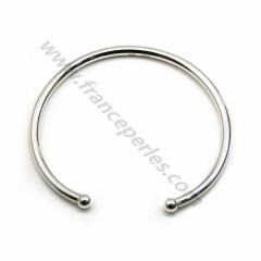 925 sterling silver 56mm flexible bangle x 1pc