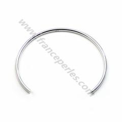 Bracelet jonc flexible 56mm en argent 925 x 1pc