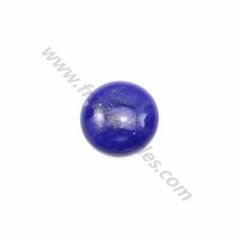 Cabochon lapis-lazuli rond 10mm x 1pc