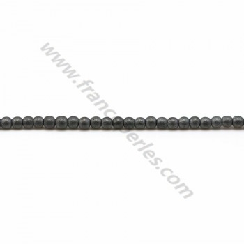 Hématite mate ronde 2mm x 40cm