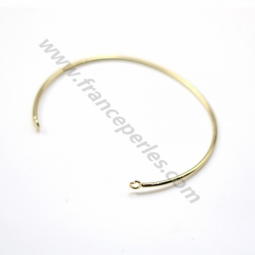 "Jonc bracelet to decorate 60mm plated by ""flash"" gold on brass x 1pc"