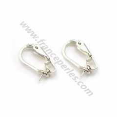 Clip for ear, in 925 silver, for pearls or stones, 8-14mm x 2 pcs