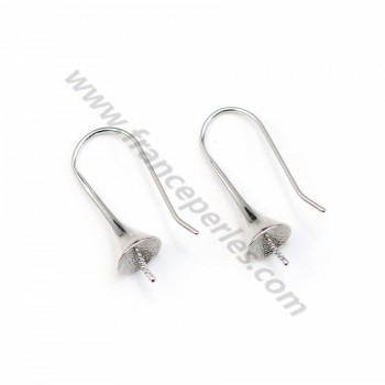 925 silver ear hooks, for semi-pierced pearls, measuring 32mm x 2pcs