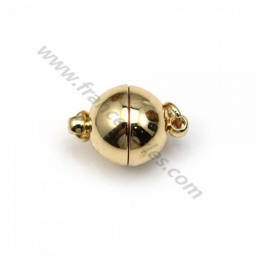 Fermoir aimanté, de forme ronde, de couleur dorée x 1 pc