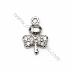 925 silver & zirconium charm, in dragonfly shape measuring 6.7 * 10mm x 1pc