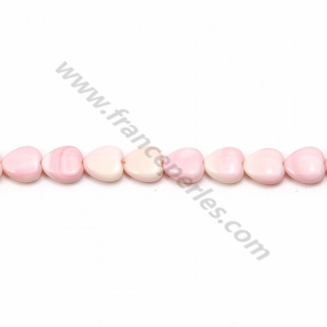 Pink lambi, in heart-shaped, measuring 6mm x 2pcs