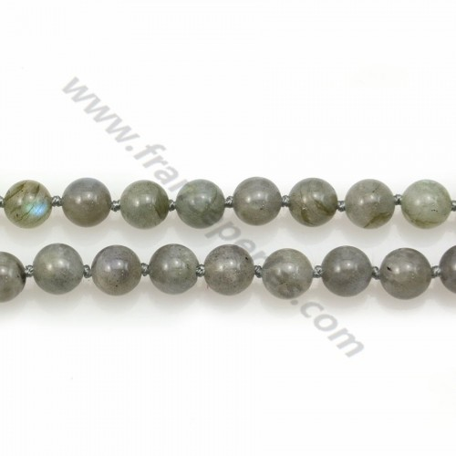 Long necklace on labradorite round measuring 8mm length 80cm x 1pc