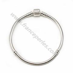 Bracelet en argent 925, maille serpentine, épaisseur de fil 3mm x 1pc