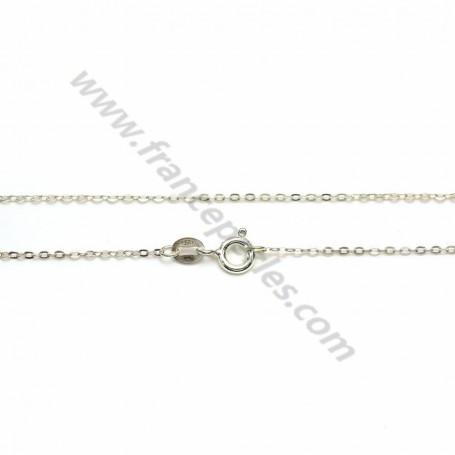 Chain in convict knit, in 925 silver x 45cm