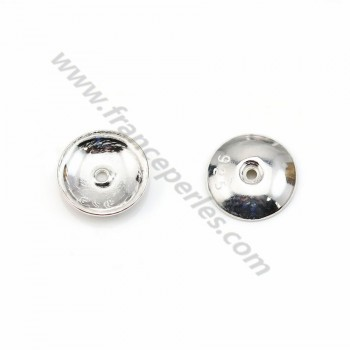 Cup smooth, in 925 silver, in size of 8mm x 8pcs
