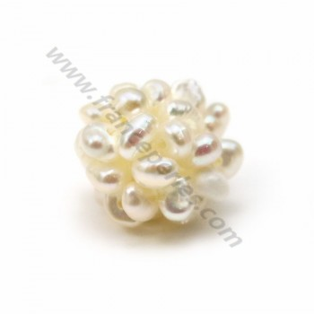 Pearl of white freshwater pearls, in size of 13-14mm x 1pc
