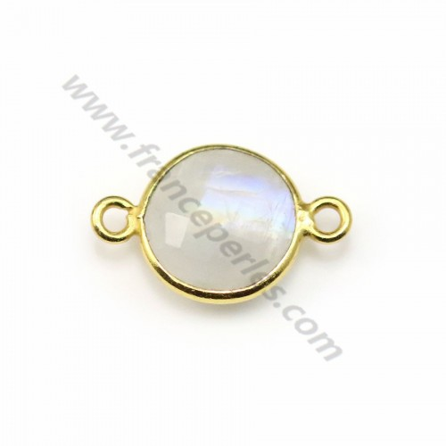 Moonstone in the shape round, 1 ring, set on silver, 11mm x 1pc