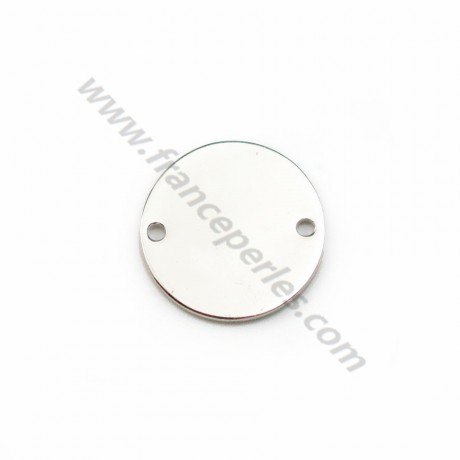 925 sterling silver round charm to engrave 10mm x 1pc