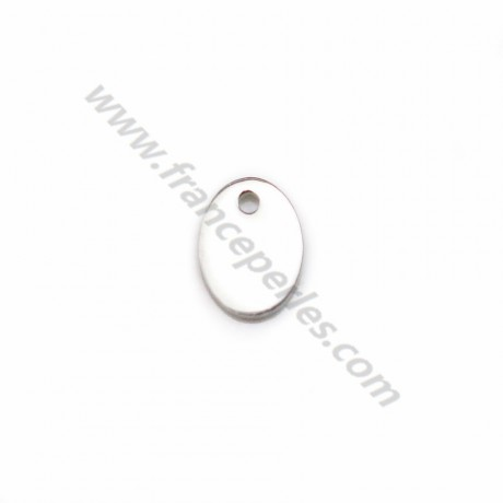 925 sterling silver oval charm to engrave 5x7mm x 2pcs