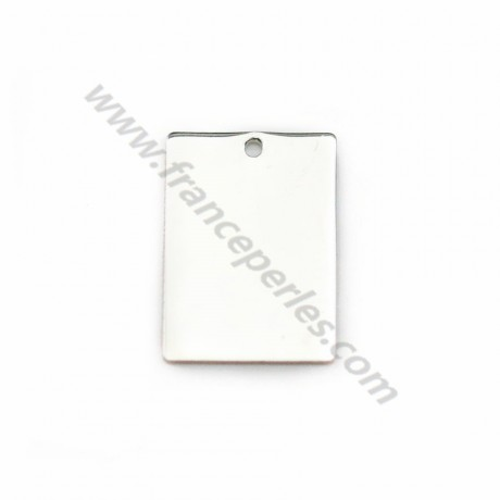 925 sterling silver rectangular medal to engrave 10x14mm x 1pc