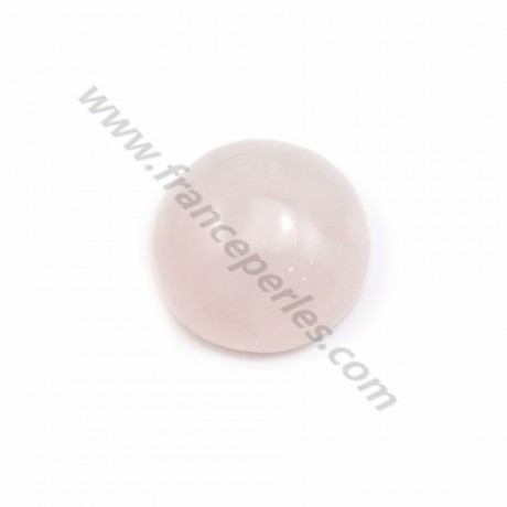 Cabochon Rose Quartz Flat-round 10mm x 5pcs