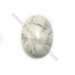 Cabochon howlite oval 10x14mm x 2pcs
