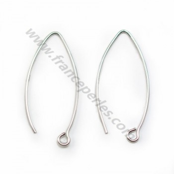 Earwires , Sterling Silver 925 , 40mm  x 2 pcs