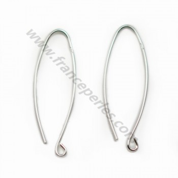 Sterling Silver 925 Ear wires X 2pcs