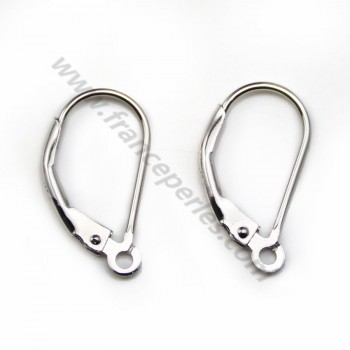 925 Sterling Silver rhodium pierced clips  X 2 pcs