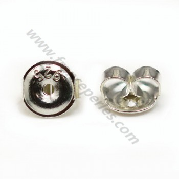 Ear nuts Sterling Silver 6.5mm X 4 pcs