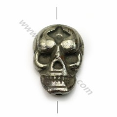 Pyrite, in skull shaped 13*18mm x 40cm (13pcs)