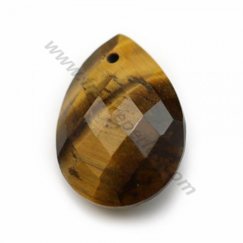 Tiger eye, in faceted drop shaped, 13 * 18mm x 1pc