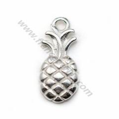Charm in 925 silver, in the shape of a pineapple, 6 * 13mm x 1pc