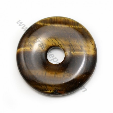 Tiger's eye, in shape of a donut, 40 * 8mm x1pc