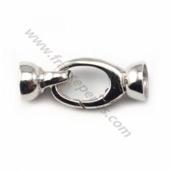 Strling silver 925 lobster claw clasp  9*28mm X 1 pc