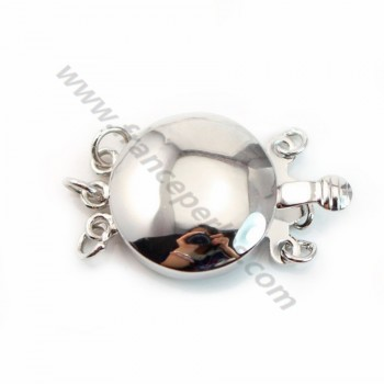 Round Cabochon Clasp,  925 Silver  16mm X 1 pc