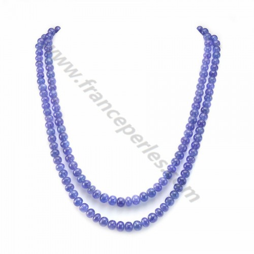 Collier tanzanite rondelle dégradé 2 rangs x 1pc