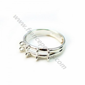 925 sterling silver flexible  ring  with 8 loops x 1pc