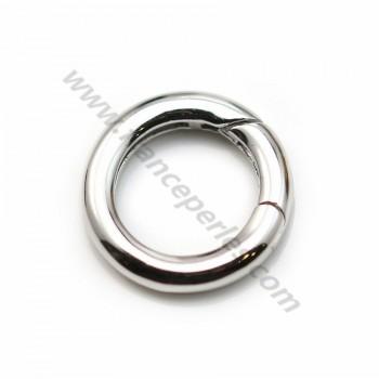 Silver  925 Rhodium Bellows Clasp 17mm X 1 pcs