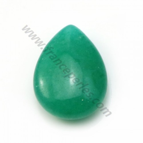 Jade colored green Flat drop 13.5*18.5mm X 1pc