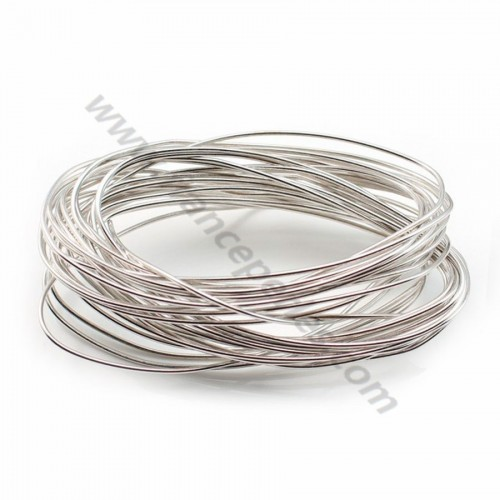 Sterling Silver 925 Rhodium hard wire 0.4mm X 1m