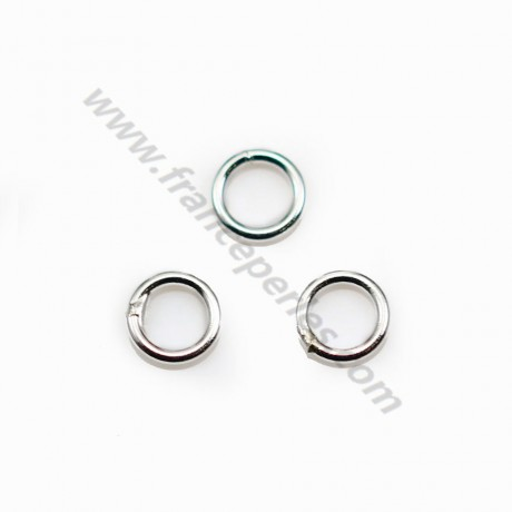 Silver 925 Welded Round Rings 4mm in bag