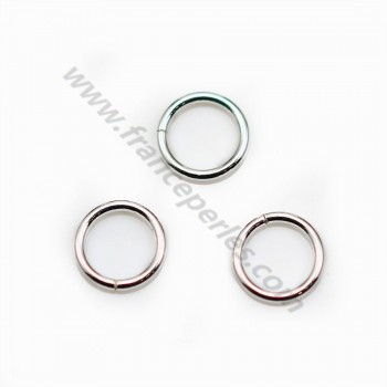 Silver rings 925  Round Welded  7mm x 10 pc