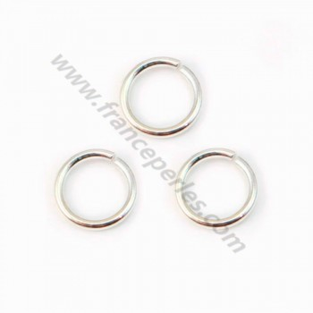 925 Silver, Open Round Rings, 8mm, X 10 pcs