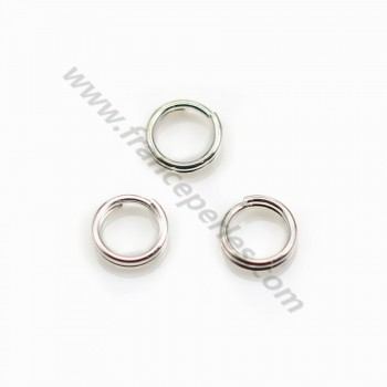 925 Silver, Double jump rings  5x0.6mm X 10 pcs