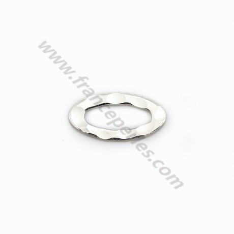 Hammerblow Rings Oval Silver 925  7*13mm x 4pcs