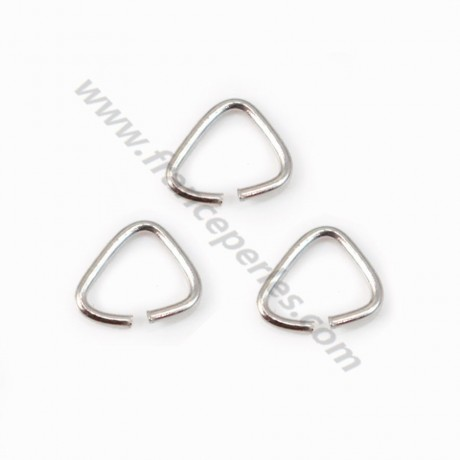 925 Silver rhodium, Open Triangle-shaped, 5*5x0.6mm, x 20pcs