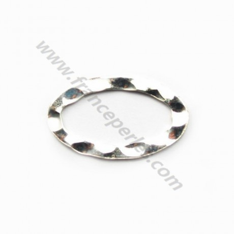 Silver 925 Welded OVALE Rings 10*16.2mm in bag x2PCS