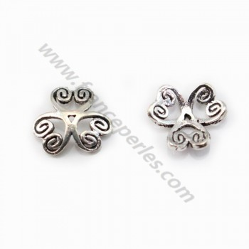 Sterling Silver 925 Saucer clover 9mm X 4pcs