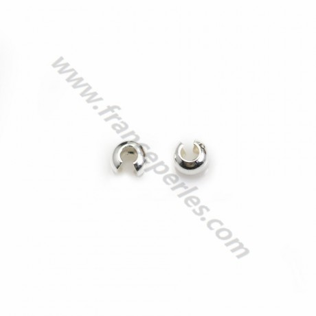 925 Sterling Silver Crimp cover 3mm x20