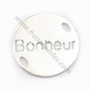 925 Sterling Silver Bonheur spacer 15mm X 1 pcs