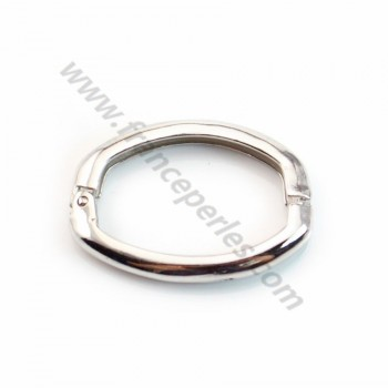 Oval Clasp, 925 Silver Rhodium  20*25mm X 1 pc