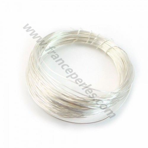 Sterling Silver 925 hard wire 0.4mm x 1m