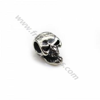 Pendant in shape of skull, in 925 silver, in size of 5 * 10mm x 2 pcs