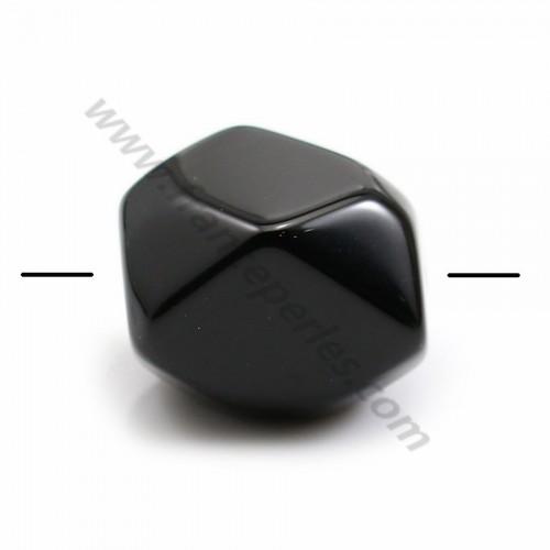 Agate de couleur noire, de forme diverses, 17 - 20 * 12 - 15mm x 1pc